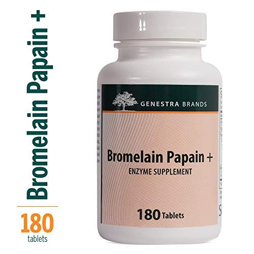 Genestra - Bromelain Papain + - Multi Enzymatic Formulation in Tablet Format - 180 Tablets -