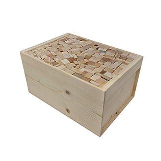 Leña de quemar, madera para calefacción de abeto-alerce o haya-roble, longitud:18-19cm, seca y de excelente calidad, conjunto de cajas de madera de 5-6Kg.
