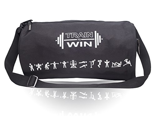 Casual Gym bag for Boys - Cosmus Fitwell 23L Medium Gym Duffle Bag - Sports bags for men (BLACK)  available at amazon for Rs.249