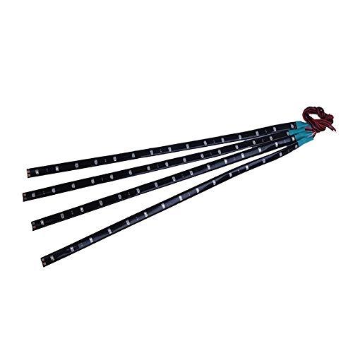 Bande lumineuse LED 15SMD ruban flexible lumière de bande LED colorée Lumière de bande Bar voiture 12V Décoration d'intérieur Party 30cm Feu vert 4pcs