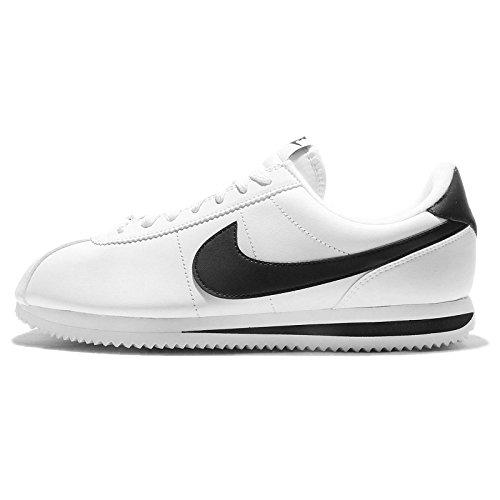 Nike Mens Cortez Basic Leather Trainers WHITE/METALLIC SILVER//BLACK