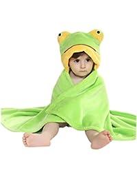 CuteOn bébé Garçons Filles Ultra-doux Flanelle Bain Serviette Robe - Avec Capuche - bébé Peignoir de bain Couverture