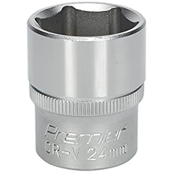 "Sealey S1224D WallDrive Socket 24mm Deep 1//2/""Sq Drive"