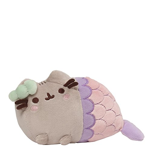 Gund Pusheen Spiral Shell Mermaid Stuffed Cat Plush, (Dress Up Cat Ideen)