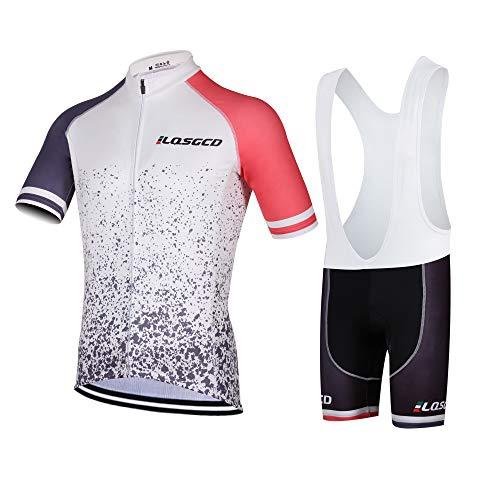 HONGWEI Herren Jersey Anzüge Fahrrad Kurzarm Set Schnelltrocknendes Atmungsaktives Hemd + 3D Radhose für Mountainbike Rennrad Trikot M - 4XL