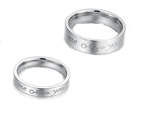 Girlz!Platinum Plated Simple Circle Arrow Heart Me You Couple Rings Men & Women