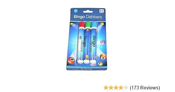4 x BINGO  DABBER MARKERS MULTI-COLOURED PENS FOR BINGO TICKETS GREAT VALUE
