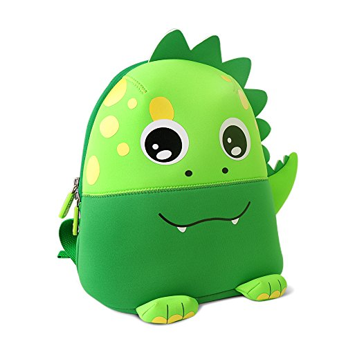sack Vorschule Kindergarten Kleinkind Tasche Neopren Schultertasche Für Kinder Jungen Mädchen (Grüner Dinosaurier) (Mittagessen Taschen Für Jungen)