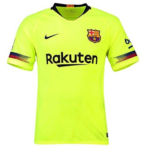 Nike 2018/19FC Barcelona Stadium Away–Camiseta de fútbol para Hombre, Hombre, Color Volt/(Deep Royal Blue), tamaño FR : S (Taille Fabricant : S)