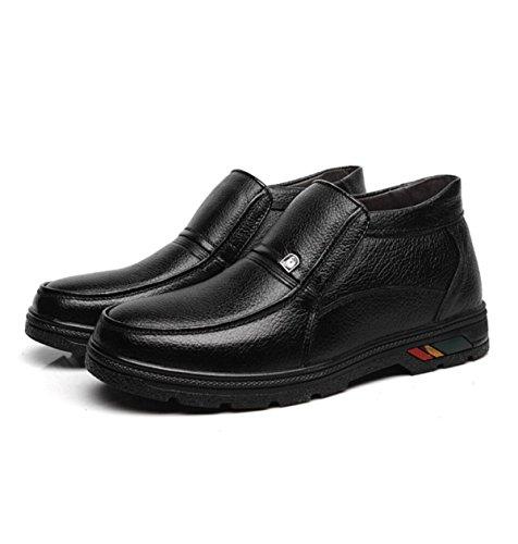 GRRONG Scarpe Di Cotone Caldo Di Mezza Età Scarpe Uomo In Cotone Uomo Scarpe Di Cotone Black