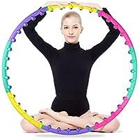 OMZBM Desmontable Magnético Ponderado Hula Hoop Salud Ejercicio Perder Peso Fitness Masaje Cintura Hula Aros Colorido 2.2Lb