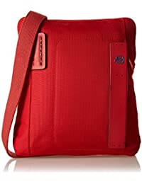 Piquadro Bandolera de hombre iPad Air Rojo