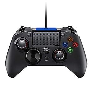 PICTEK 2019 Upgraded PS4 Controller, Wired Gaming Gamepad mit Dual-Vibration-Turbo und Trigger-Tasten für Playstation 4/ Playstation 3/ PC (Windows XP/ 7/8/ 8.1/10)/ Android/Steam