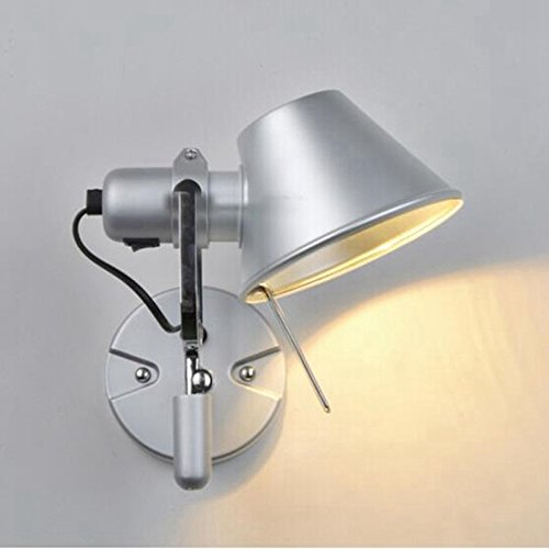 Self-My Moderne Minimaliste Lampe Murale Couvercle En Aluminium Led Living Salle D'Étude Chambre À Coucher Allée De Chevet Chapeau De Paille Projet Lampe Murale