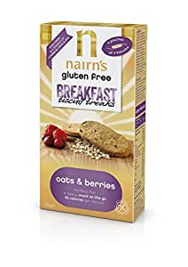 Nairns Gluten Free Oat & Berries Breakfast Biscuits 170g (Pack of 4)