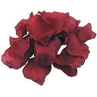 Silk rose Petals wedding party Flower Favors vino rosso (1000pezzi)