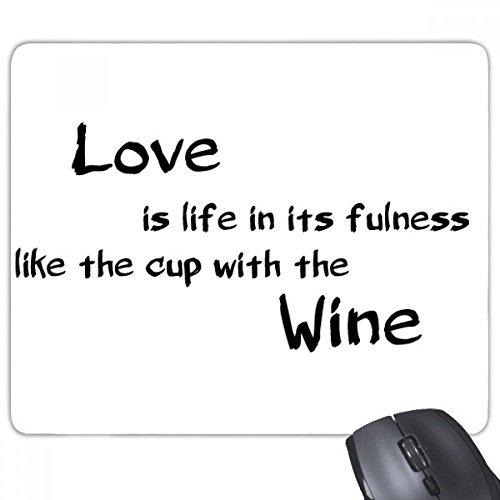 beatChong Famous Poetry Quote Love Like Wine Rectangle Griffige Gummi Mousepad Spiel Mauspad Geschenk