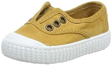 victoria Unisex Baby Inglesa Lona Tintada Puntera Sneaker, Gold (ORO), 18 EU