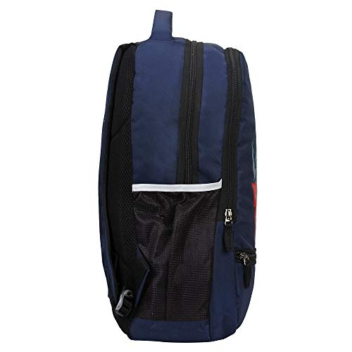 Sassie Polyester 31 L Navy Blue School Bag with Laptop Compartment