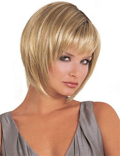 Fashion wigstyle Damen Lady Kurz Kunsthaar Perücken Blond Mix Haar Perücke auf Verkauf billige