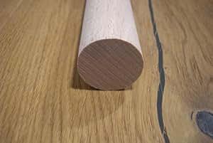 Amco rundstableiste barre de ronde baguette en bois de hêtre 60 mm longueur :  100 cm