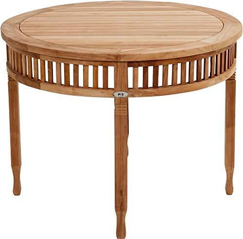 Ploß Ploß 1044690 Tisch Teak verziert Handarbeit 1 Meter Durchmesser Höhe: 75 cm