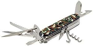 Victorinox Taschenmesser Huntsman (15 Funktionen, Schere, Holzsäge, Korkenzieher, Schraubendreher, Lebenslange Garantie) camouflage