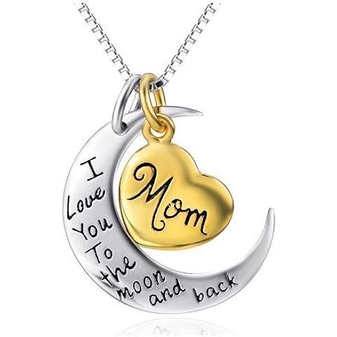 (18 45,72 cm, due tonalità, in argento Sterling, con Flashed a forma di cuore, in oro giallo, motivo: