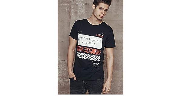 MERCHCODE Jungen Twenty One Pilots Filler Bars Tee T-Shirt