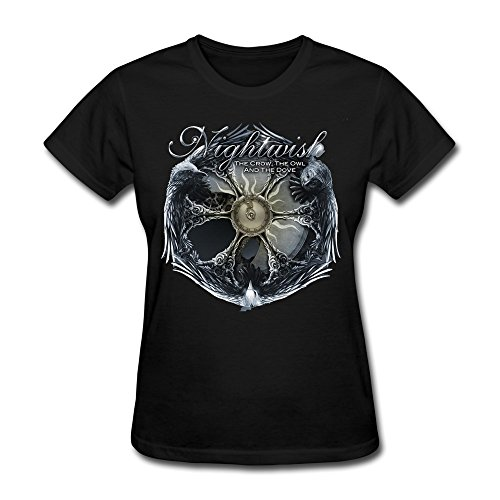Donna's NIGHTWISH The Crow, The Owl And The Dove T-Shirt- Nero