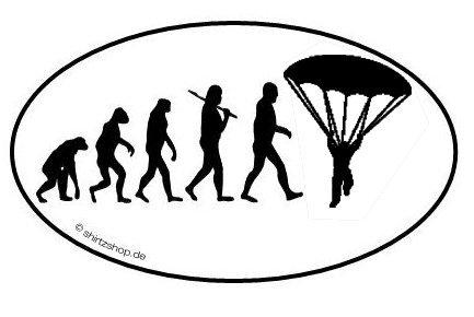 FALLSCHIRM FALLSCHIRMSPRINGER EVOLUTION serie 1.0 Aufkleber Autoaufkleber Sticker Vinylaufkleber Decal (Fallschirm-aufkleber)
