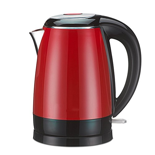BCQ Electric Kettle Red Brown White Double Anti-Scald 1800W 1.7L Base Separation Automatic Power off Insulation Home Travel Electric Kettles,Red