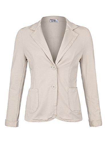 Damen Blazer Vintage Style ( 611 ), Farbe:Beige, Blazer 1:38 / M