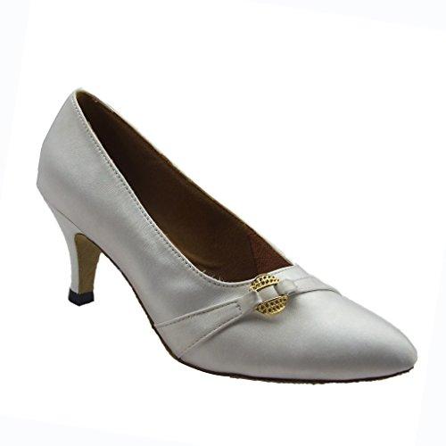 Jig Foo Chaussures de Pompes Dance pour Femme Blanc - blanc