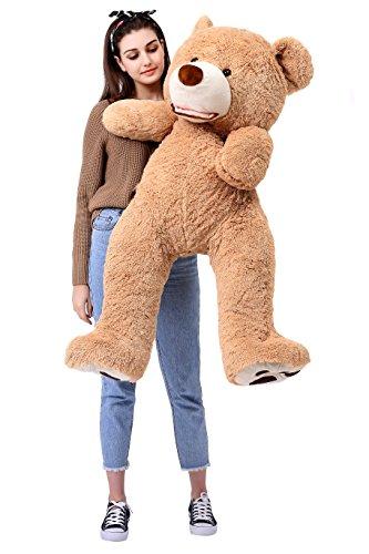 MorisMos Groß Teddybär Spielzeug Puppe Weiches Plüsch Braun 130cm/47