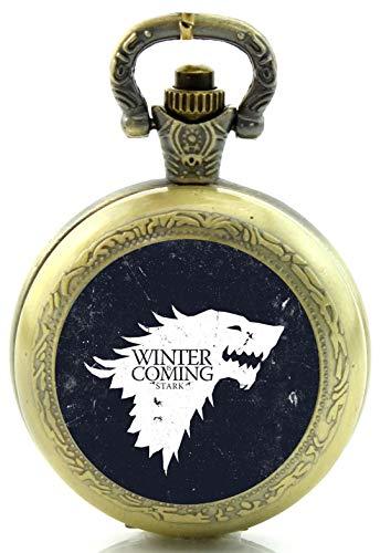 Juego de Tronos Winter Is Coming Reloj de Bolsillo de Cuarzo, diseño