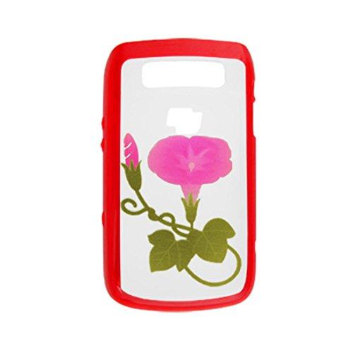 Kunststoff-Gehäuse Morning Glory-Abdeckung für Blackberry 9700 Red