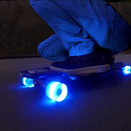 Habee GmbH 4X Longboard Skateboard LED Rollen - RGB - Longboard Cruiser Wheels 60mm