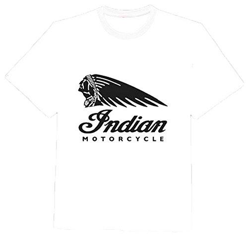 Nuovo Unisex Indian Motorcycles T Shirt Top Biker Moto Usa Vintage Vittoria 100% morbido cotone camicia aspetto, e per grande White L