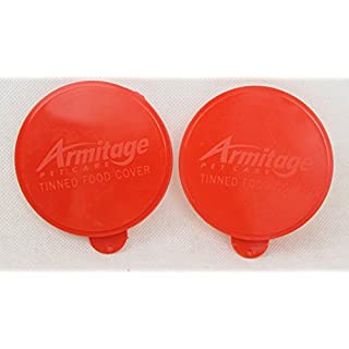 Armitages Canned Food Cover, Red, Fits 400g Tins, Standard 7.5cm Tin (2 covers)