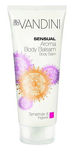 aldoVANDINI SENSUAL Aroma Body Balsam Tamarinde & Ingwer  - vegan & parabenfrei, 1er  Pack (1 x  200 ml) (Duftende Feuchtigkeitsspendende Lotion)