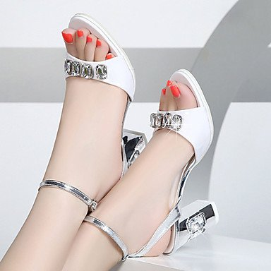 LvYuan Da donna-Sandali-Formale-Altro-Quadrato-PU (Poliuretano)-Bianco Dorato White