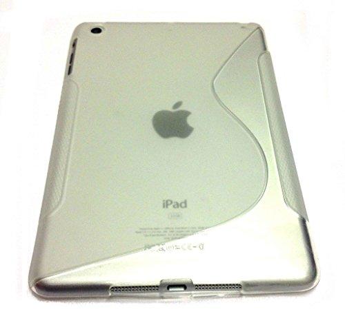 Clear S Line Wave Soft TPU Gel Back Case Cover Skin für Apple iPad Mini 2 Line Wave Tpu Case