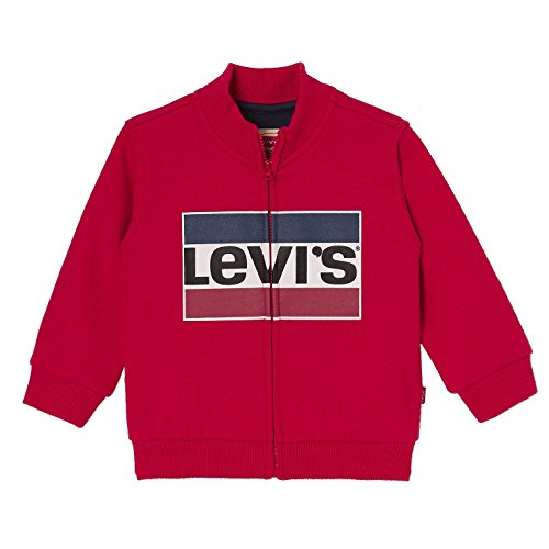 Levis Kids Zipper Levy, Sudadera para Bebés, Rot (Chinese Red 37), 86 cm