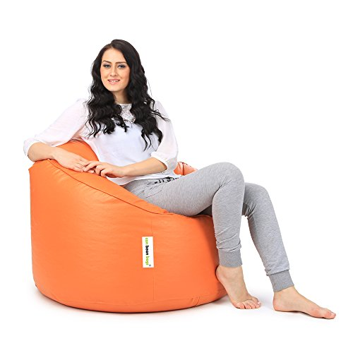 Can Mudda Bean Bag Chair without Beans (Orange)