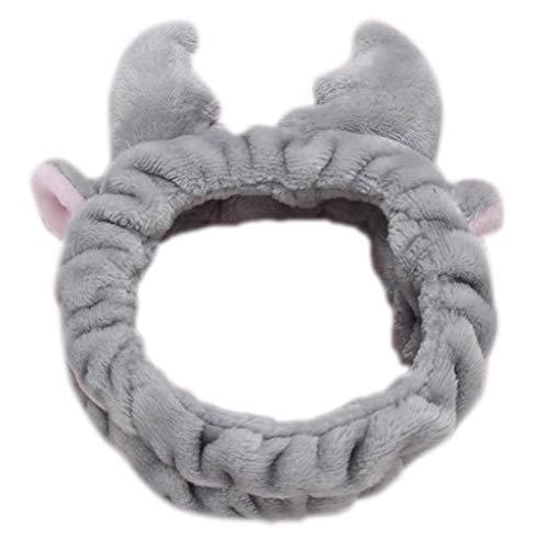3b4a3edb486a1 chenpaif Women Girl Winter Thicken Plush Velvet Wide Headband Cute 3D  Christmas Reindeer Antler Ruched Hairband