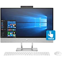 "HP Pavilion 24-x035qe Premium All-in-One PC (Intel I7-7700T Quad Core, 16GB RAM, 1TB HDD + 256GB PCIe SSD, 23.8"" FHD Micro Edge Touchscreen (1920 X 1080), AMD Radeon 530, Webcam, WiFi, Win 10 Home)"