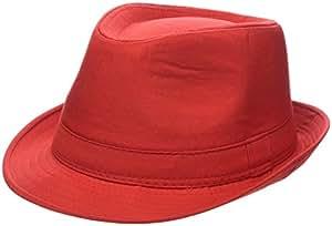 Ebuygb unisex 1289805estate cappello Panama, rosso, taglia unica