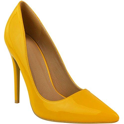 Zapatos amarillos de punta abierta formales infantiles 2L97f
