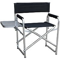 hukoer aleación de aluminio plegable silla de directores lienzo asiento y espalda al aire libre muebles sillas de director de aleación de aluminio portátil plegable Camping silla de playa